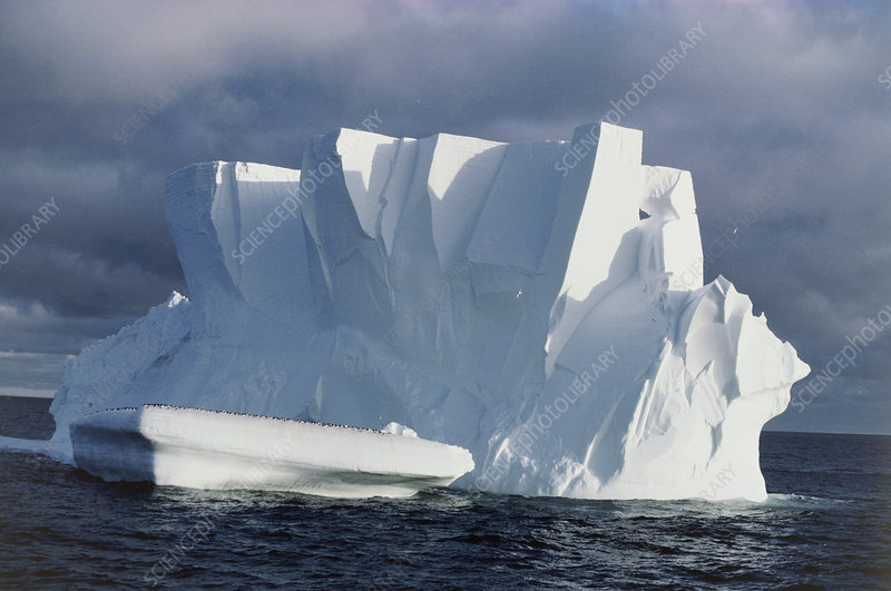 Iceberg floating in the Ross Sea, Antarctica