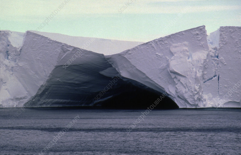 Caves in the Ross Ice Shelf, Antartica