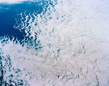 Periphery of Antarctic ice sheet seen from space