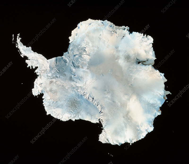 Infrared image of Antarctica