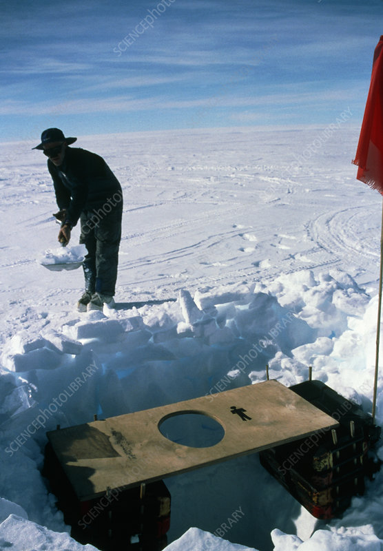 Antarctic toilet
