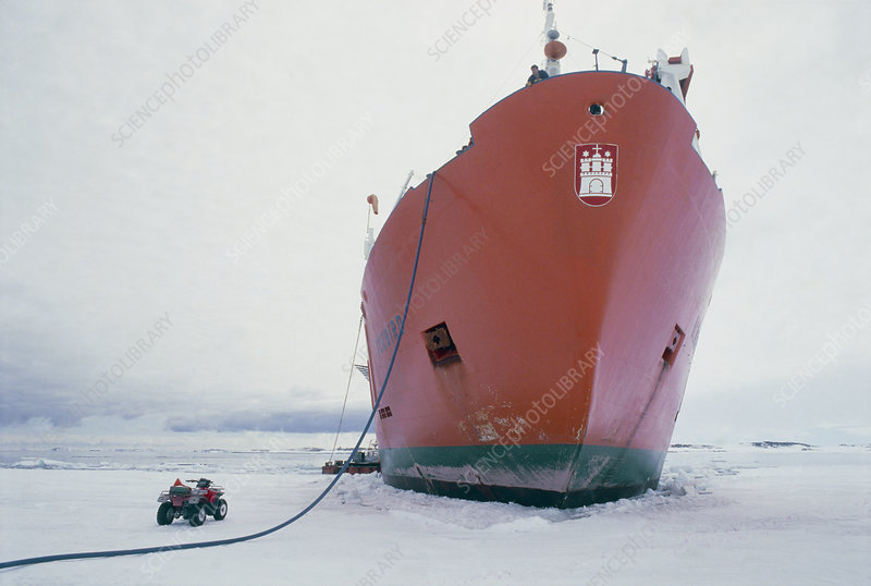 Antarctic supply ship