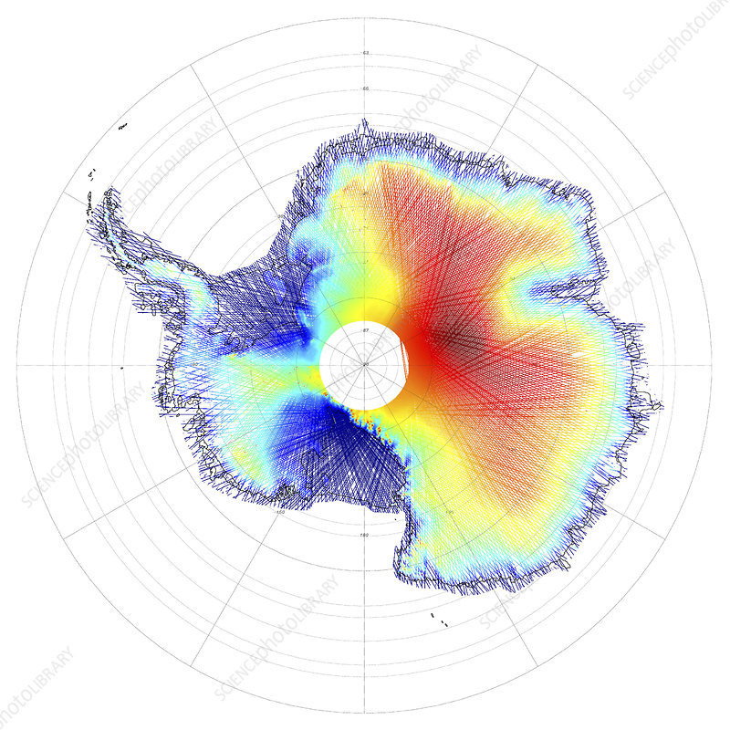 Elevation of Antarctic ice sheets
