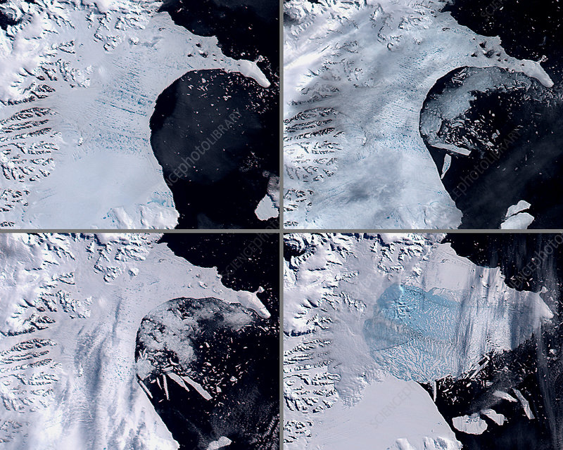 Ice shelf collapse, Antarctica