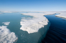 Arctic sea ice melting, Canada