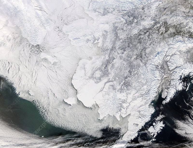 Bering Sea ice, satellite image