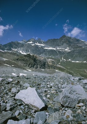 Moraine deposit 3000 metres up in Gran Paradiso,IT