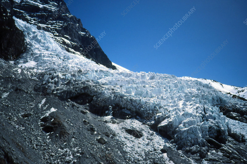 Glacier in the Langtang national park, Nepal