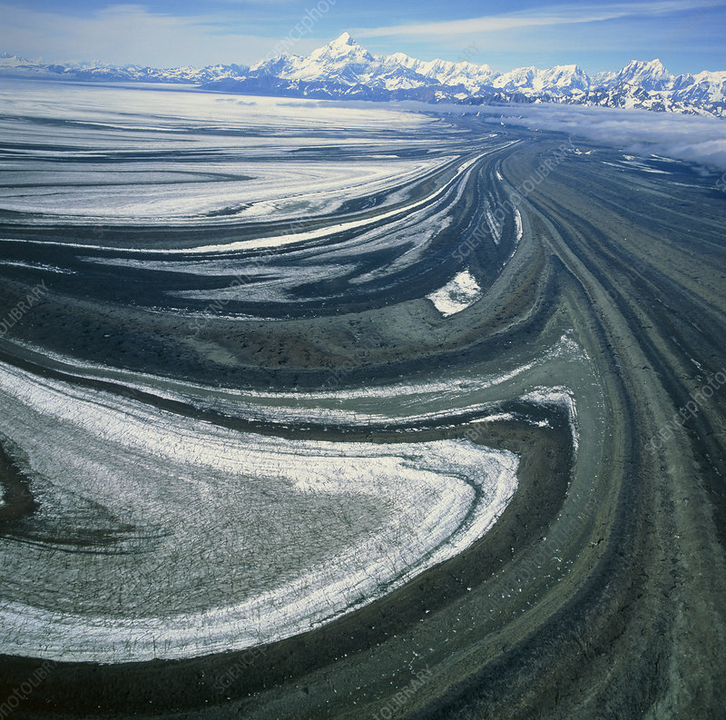View of the vast Malaspina glacier in Alaska
