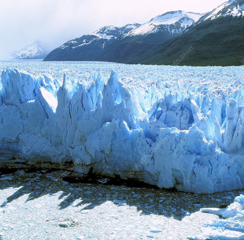 Glacial icefall