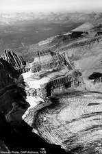 Grinnell Glacier, Montana, USA, in 1938