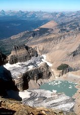 Grinnell glacier, Montana, USA, in 1981