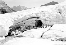 Boulder Glacier ice cave in 1932