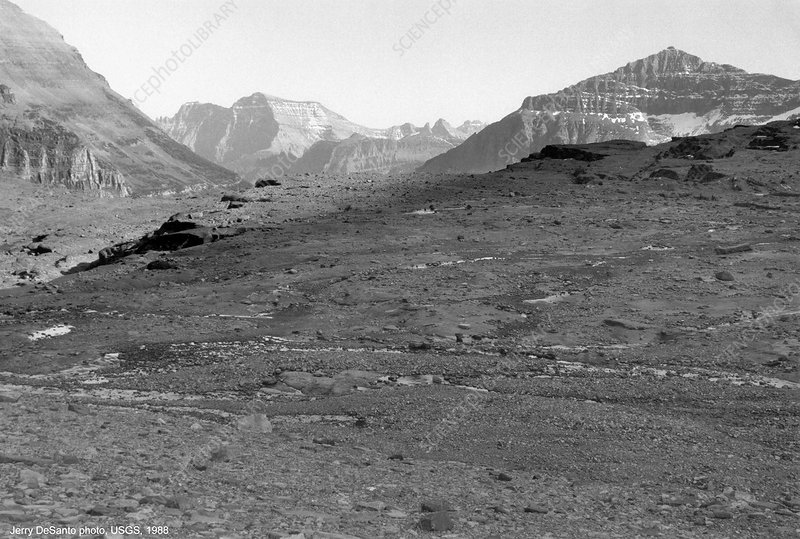 Site of Boulder Glacier in 1988