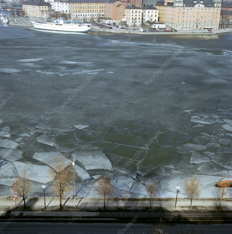 Melting sea ice, Stockholm