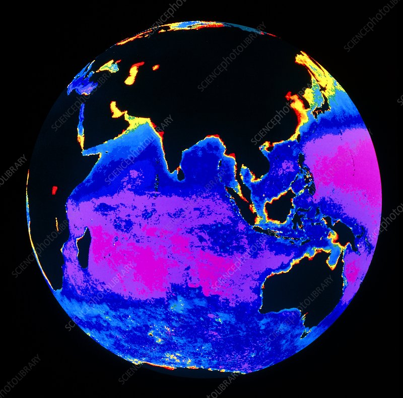 False colour image of the Indian Ocean
