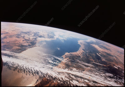 Red Sea from space from Gemini 12