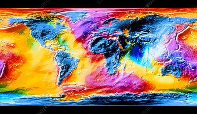 Topography of the world's ocean surface