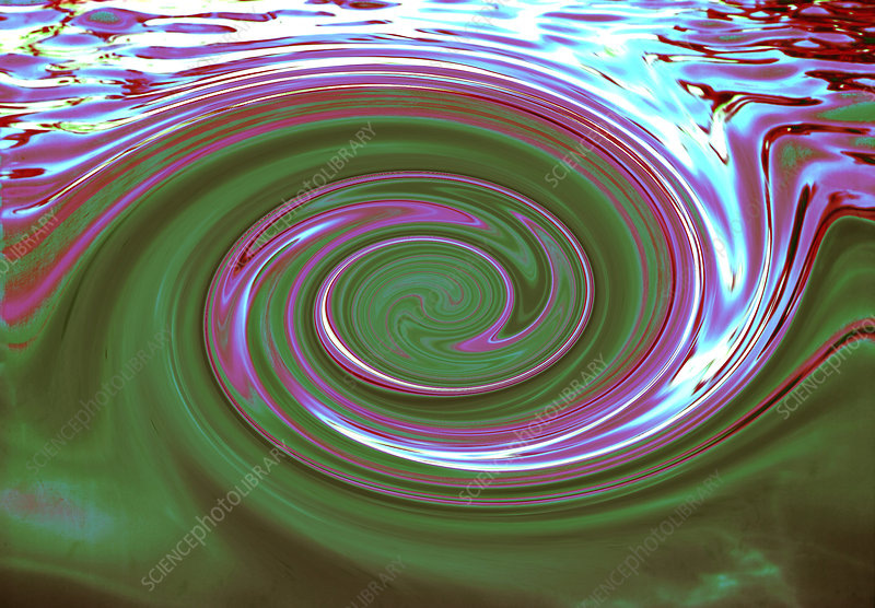 Computer illustration of a whirlpool