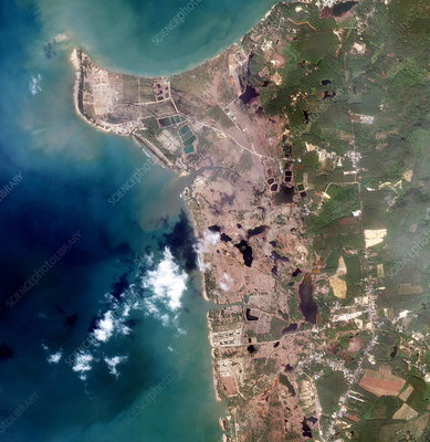 Thai coastline after 2004 tsunami
