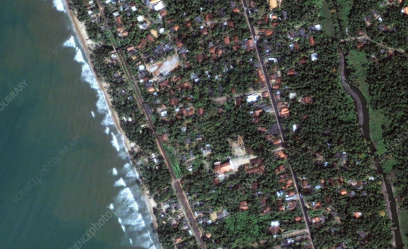 Sri Lankan coastline, before 2004 tsunami