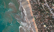 Sri Lankan coastline, during 2004 tsunami