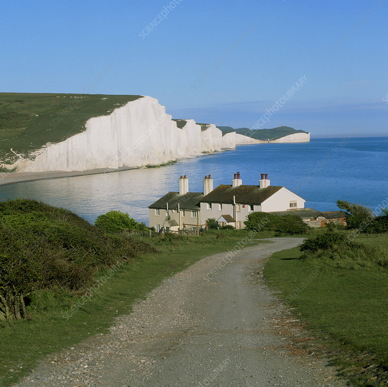 Seven Sisters chalk cliffs, Sussex, England