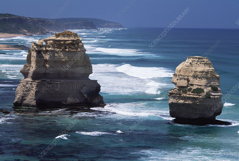 Sea stack formations