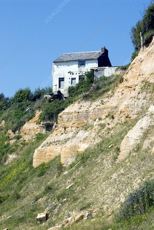 House on an eroding cliff edge