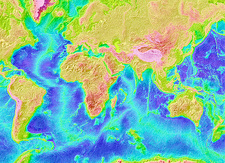 Atlantic and Indian ocean topography