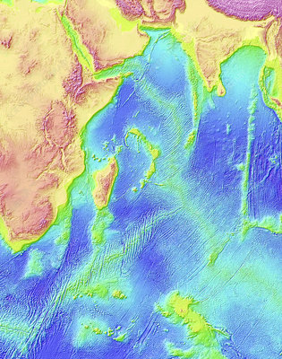 Indian Ocean topography