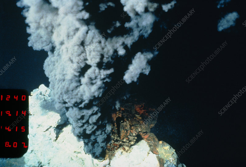 Black smoker hydrothermal vent