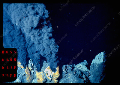 Black smoker hydrothermal vents