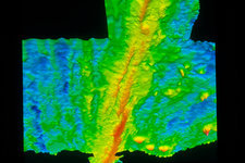 Sonar image of Pacific ocean floor