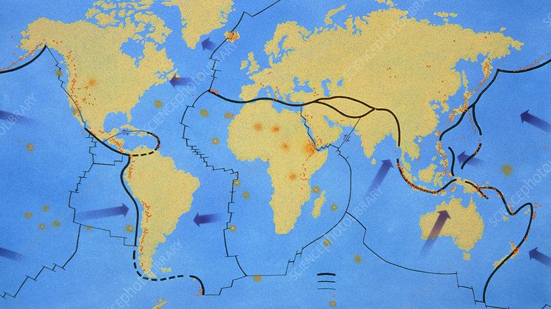 Diagram Of The Earths Tectonic Plates Stock Image E3500061