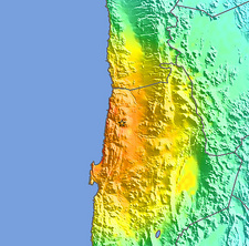2007 Chilean earthquake intensity map