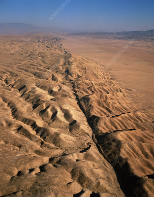 San Andreas fault, aerial view