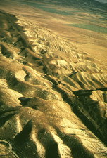 Aerial photograph of San Andreas Fault