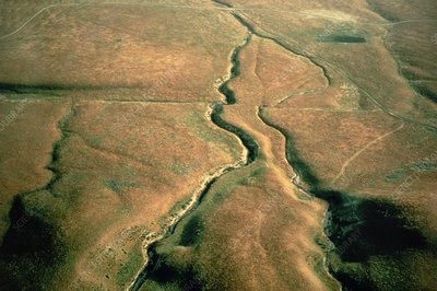 Aerial photo of S.West across San Andreas fault