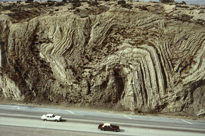San Andreas fault running next to highway