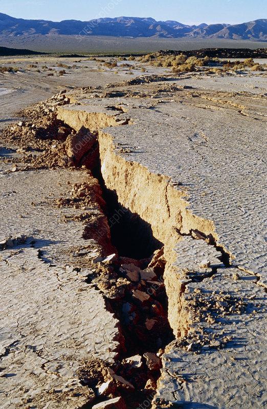 Lavic Lake seismic fault