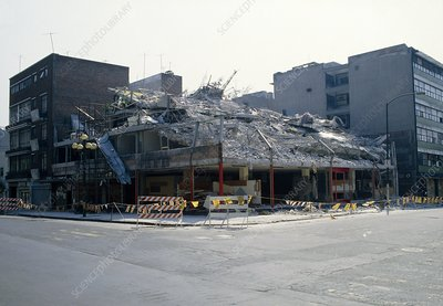 Damage to apartment building, Mexico City Sep 1985