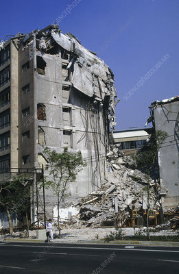 Earthquake damage, Mexico City