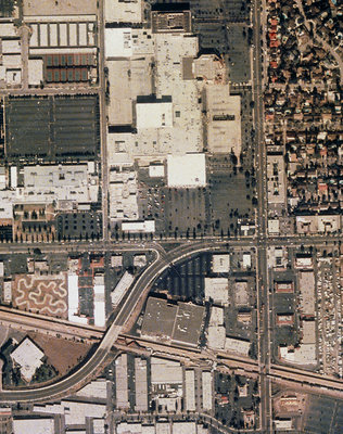 Aerial view of damage, California earthquake 1994