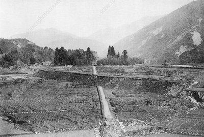 Earthquake faultline, Japan, 1891