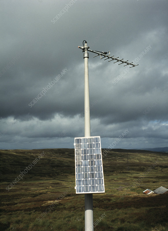 Seismology radio mast