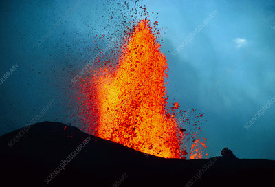 Eruption of Krafla volcano
