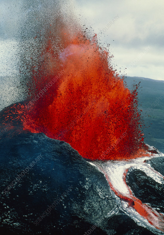Eruption of Mauna Loa, on Big Island, Hawaii