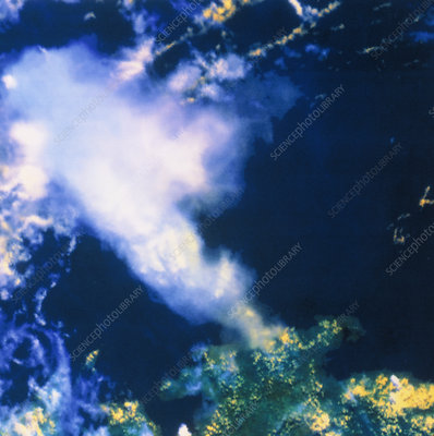 AVHRR image of ash cloud from Mt Pinatubo