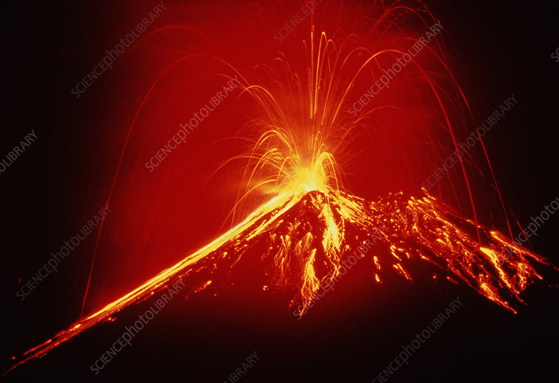 Eruption of volcano Arenal